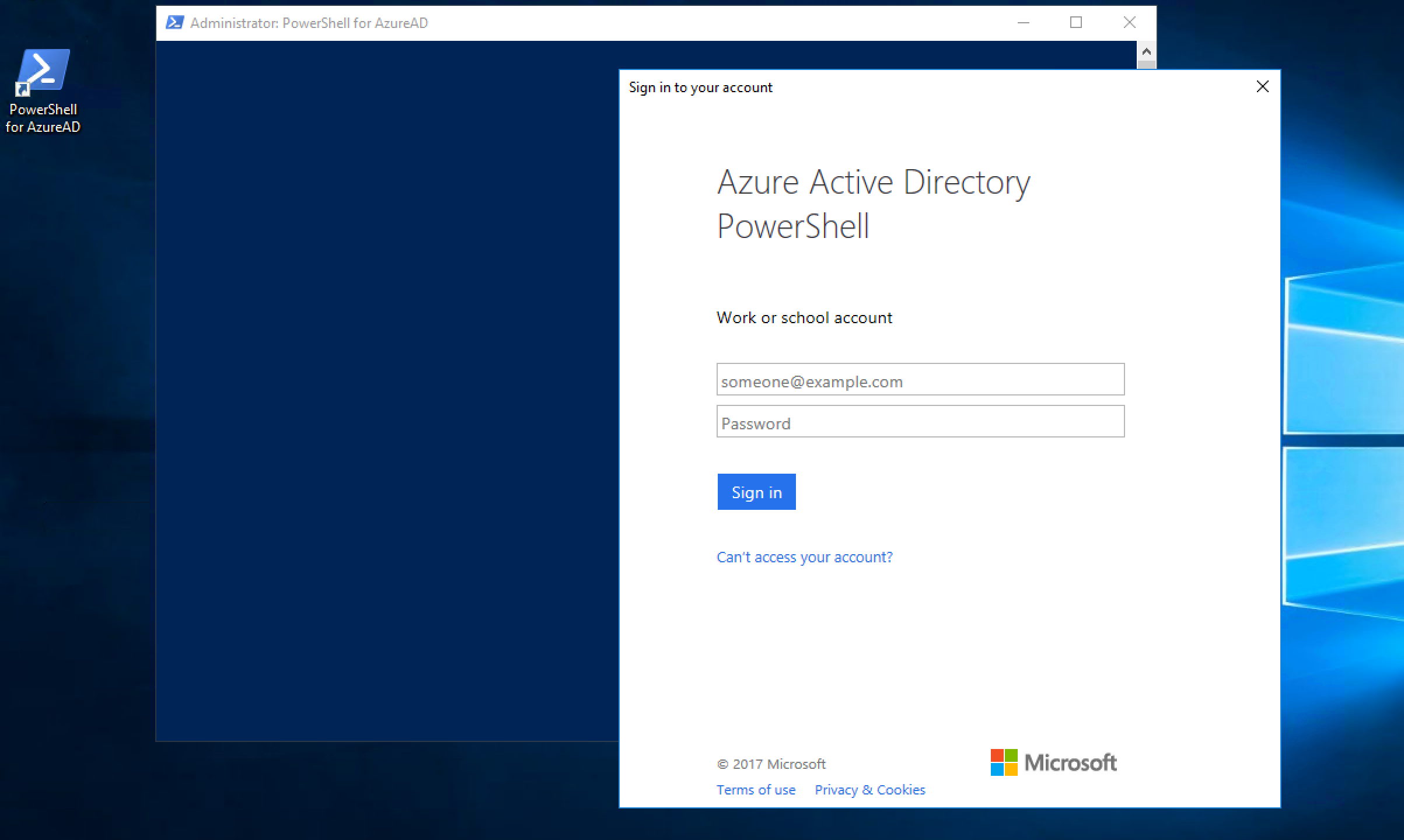 PowerShell for AzureAD Launched